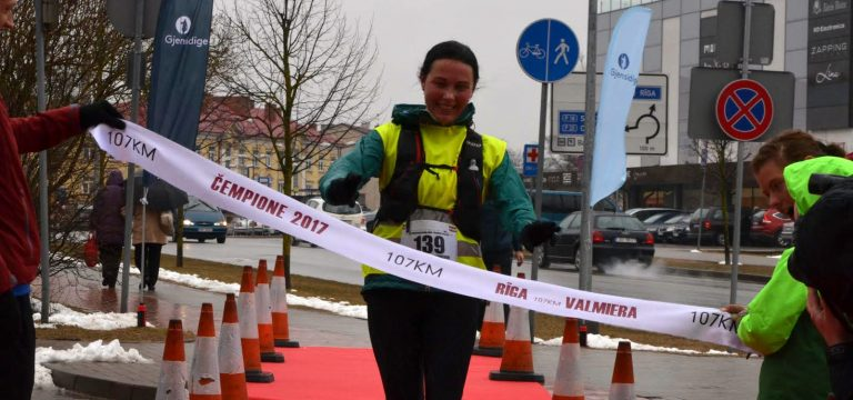 Lithuanian woman beat the track record during the Riga-Valmiera 107 km